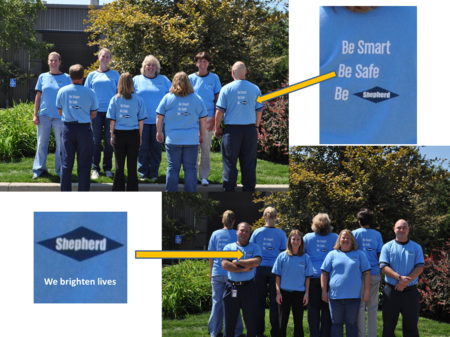 Shepherd Color Safety T-Shirt Photo