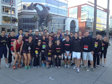 Oracle Runs The Jpmc Corporate Challenge T-Shirt Photo