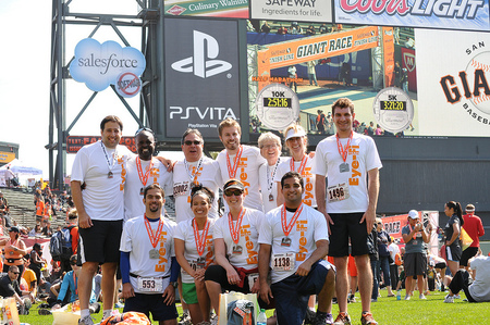 Team Eye Fi Rocks The Sf Giants Race! T-Shirt Photo