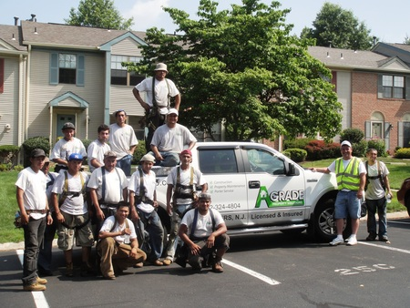 One Of My Roofing Crews Rockin' Their A Grade Shirts! T-Shirt Photo