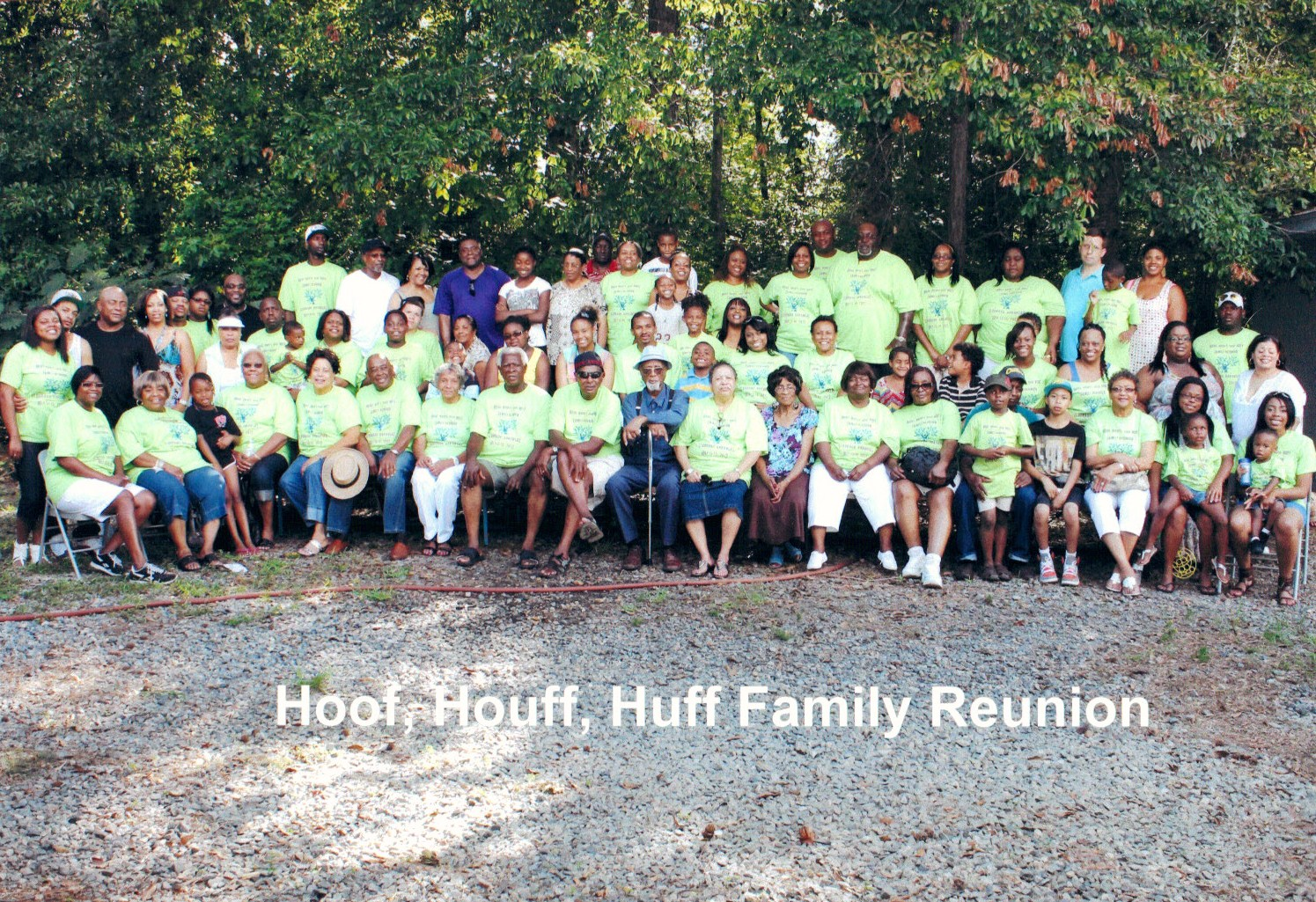 Custom T Shirts For Hoof Houff And Huff Family Reunion 2012
