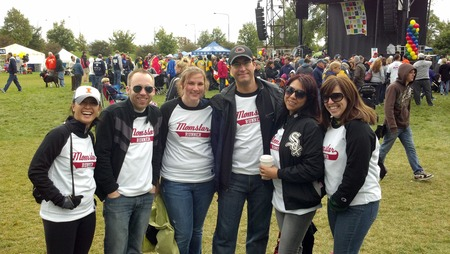 Team Momstar Runner After The 2012 Als Walk4 Life T-Shirt Photo