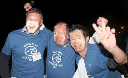 Goca Dioa Pie Eating Contest Winners! T-Shirt Photo