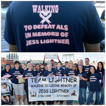Team Lightner   Walk To Defeat Als T-Shirt Photo
