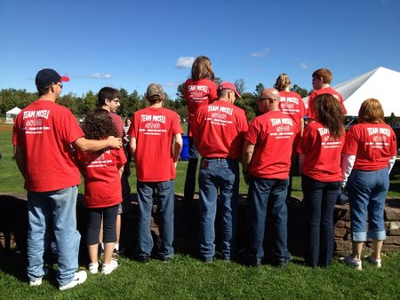 One Family Walking For Many Causes. T-Shirt Photo