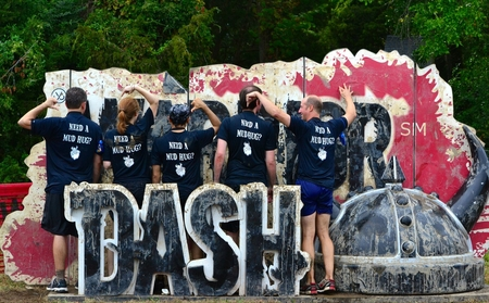 We Conquered The Mud T-Shirt Photo