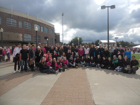 Nazareth College Students Participate In The 2012 Making Strides Against Breast Cancer Walk T-Shirt Photo