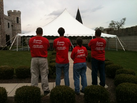 Events With Design  Tent At The Castle Event T-Shirt Photo