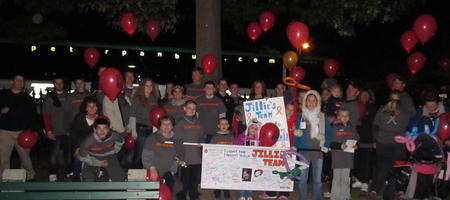 Jillie's Team Lights The Night For Leukemia T-Shirt Photo