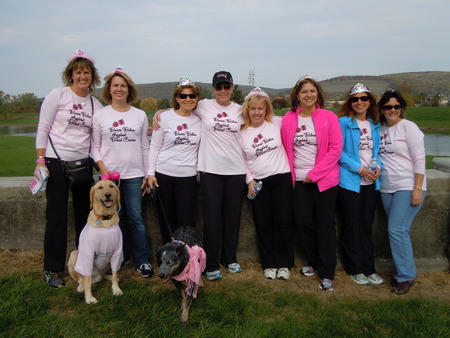 Participating In The Strides Against Cancer Walk, Corning. Ny T-Shirt Photo
