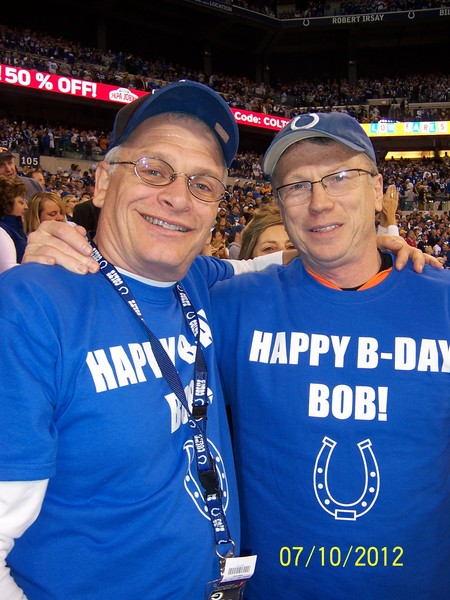 Bob And Lee At The Colts Game T-Shirt Photo