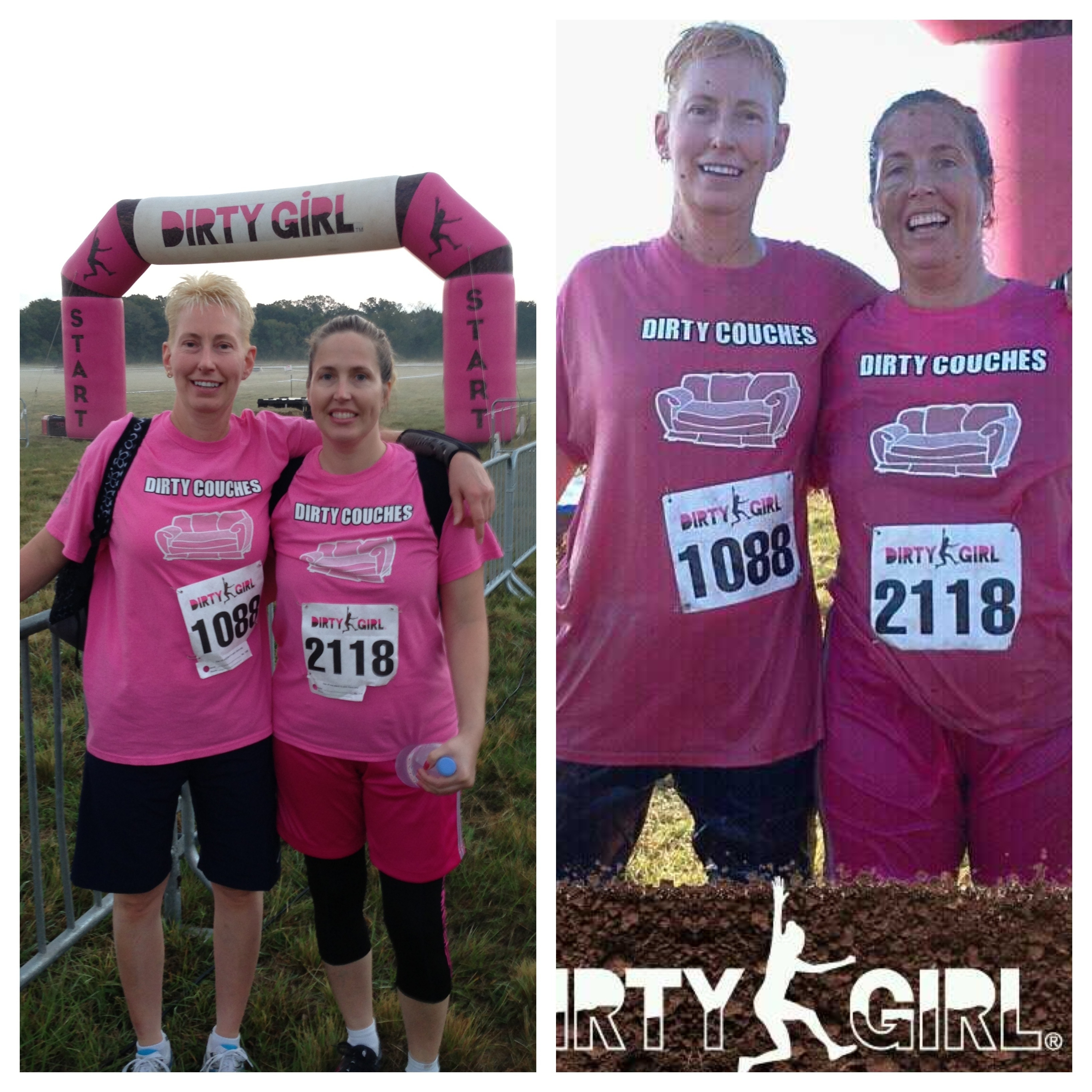 Custom T-Shirts for Before/After Dirty Girl Mud Run - Shirt Design Ideas