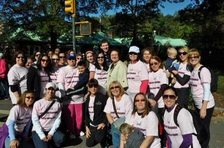 Pink Ladies Making Strides For Breast Cancer T-Shirt Photo