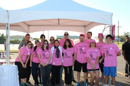Treasured Chests Making Strides Against Breast Cancer T-Shirt Photo