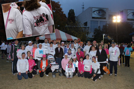 Race For The Cure 2012   Team Susan Brown T-Shirt Photo