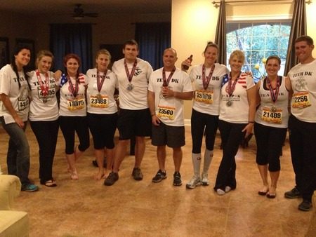 Team Dk Finishes The Marine Corps Marathon T-Shirt Photo