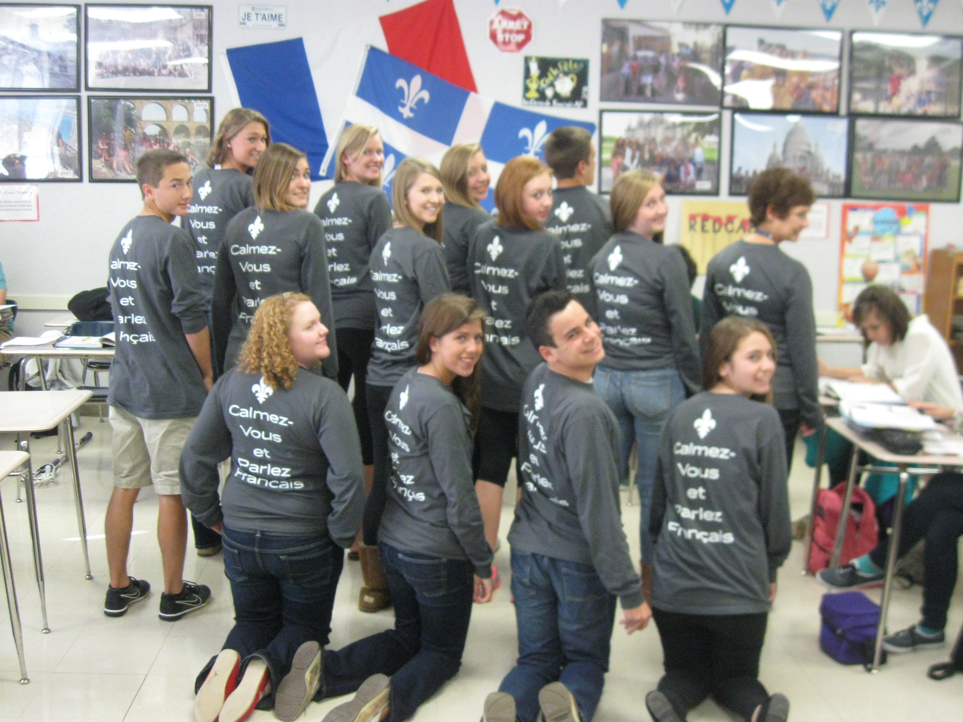 Custom t shirts for national french week at whs shirt for French club t shirt