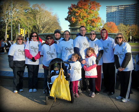Team Delia, Race For Hope T-Shirt Photo