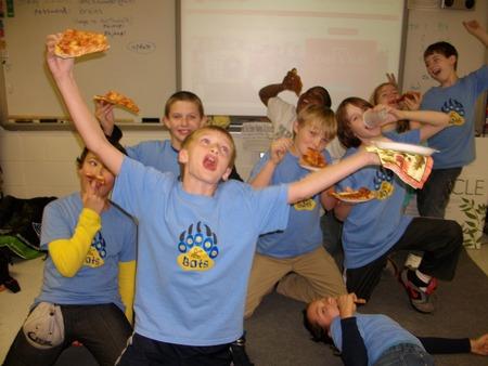 Bruin Bots Pizza Party T-Shirt Photo