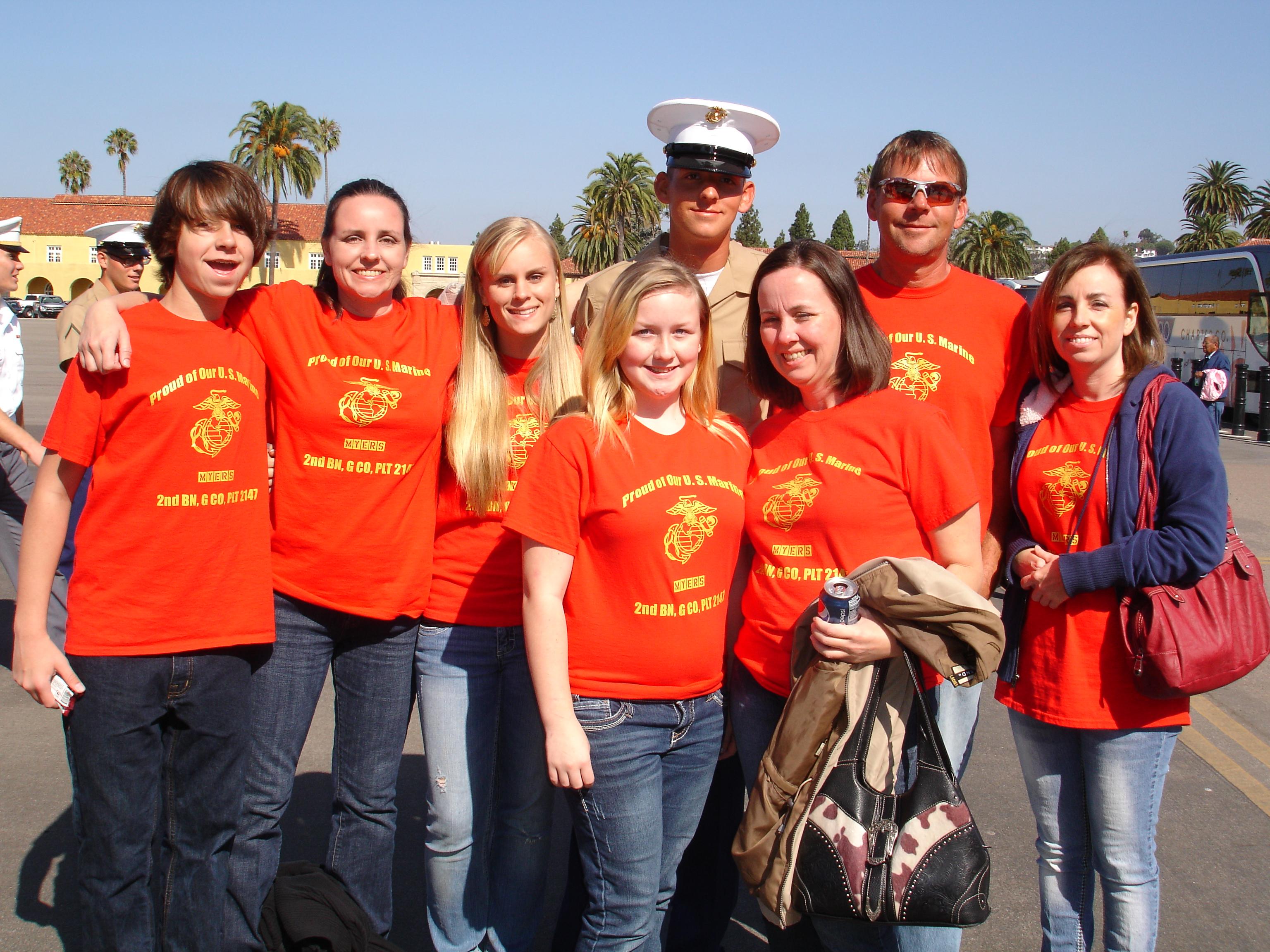 custom tshirts for graduation day at marine corps boot
