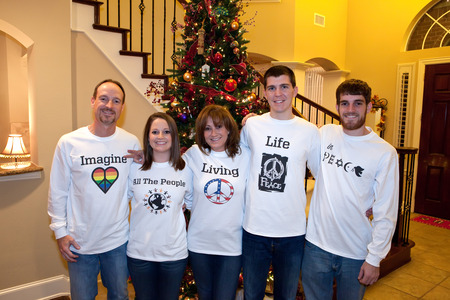 Our Christmas Card Photo T-Shirt Photo