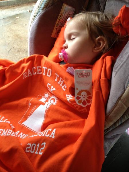 Morgan Sleeps T-Shirt Photo