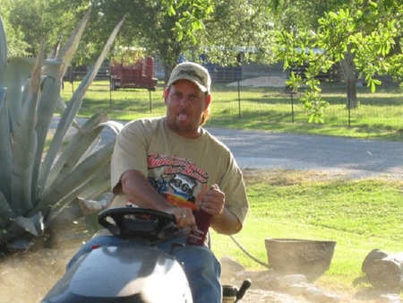 Redneck Lawn Mowing T-Shirt Photo
