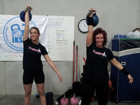 Synergy Kettlebell Skinny Strong Ladies! T-Shirt Photo