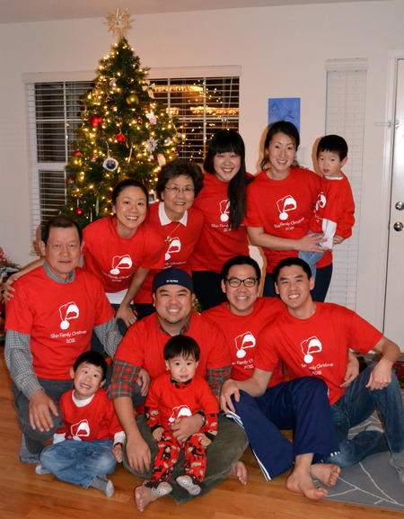 Shin Family Xmas 2012 T Shirt Photo