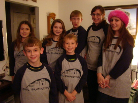The Beel Grandkids At Christmas T-Shirt Photo