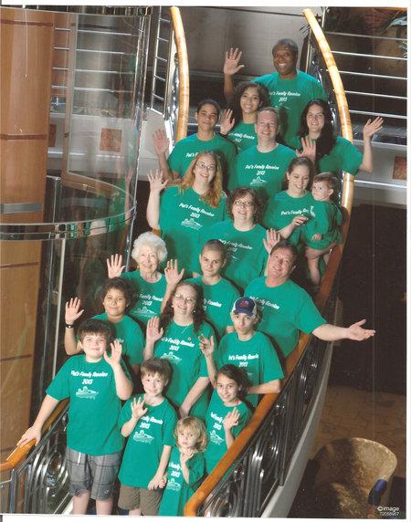 Family Reunion Cruise 2012 T-Shirt Photo