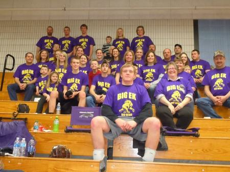 Zach's 100 Win In Varsity Wrestling T-Shirt Photo