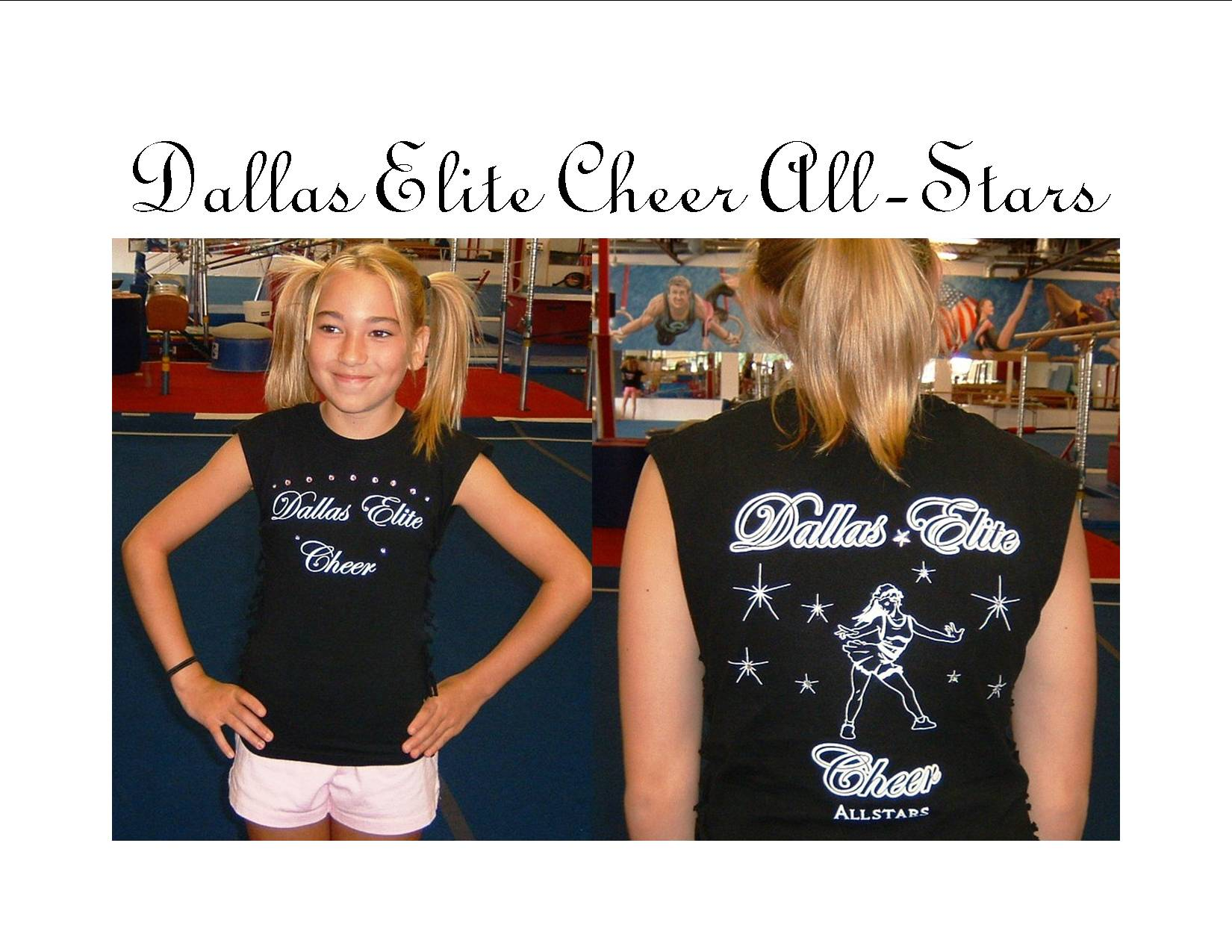 Elegant Dallas Elite Cheer T Shirt Photo