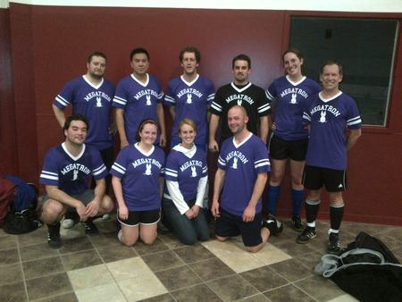 Megatron, Coed Soccer League Defending Champions! T-Shirt Photo