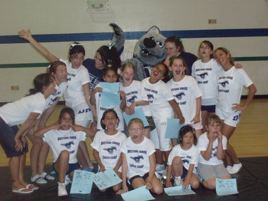 First Annual Junior Mustang Cheer Camp T-Shirt Photo