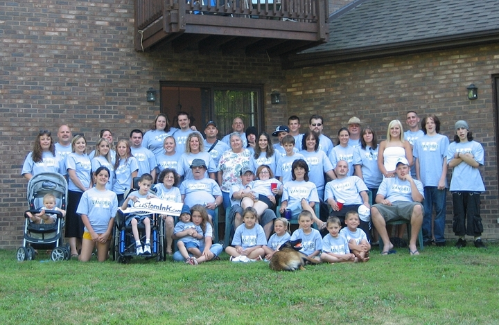 Van Drei Family Reunion T-Shirt Photo