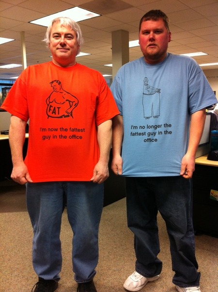 Mike Loses 43 Pounds So Bill Pays Up On Their Bet T-Shirt Photo