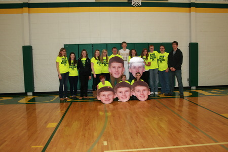 Ben Basketball Senior Night 2013 T-Shirt Photo