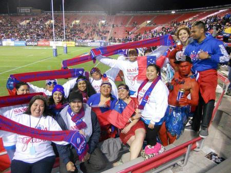 10years At The Usa 7s:Cheering For Samoa T-Shirt Photo