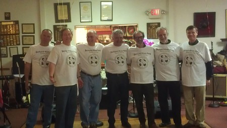 Backyard Blues Band Enjoying Their Shirts! T-Shirt Photo