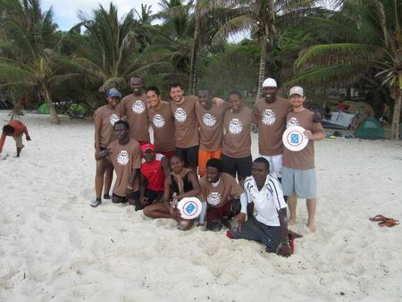 Team Uganda At Tiwi Beach 2012 T-Shirt Photo