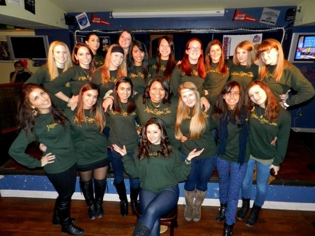 Alpha Sigma Tau Hosts A Hot Wing Eating Contest To Fundraiser For Babyland T-Shirt Photo