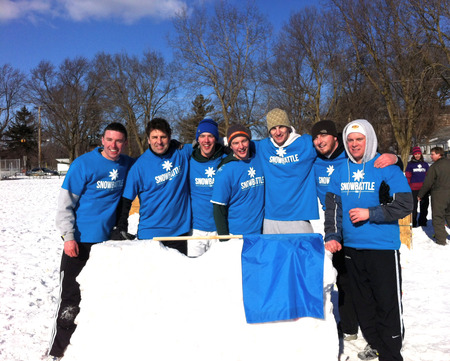 Snow Battle Usa At Cedarburg Winter Festival T-Shirt Photo
