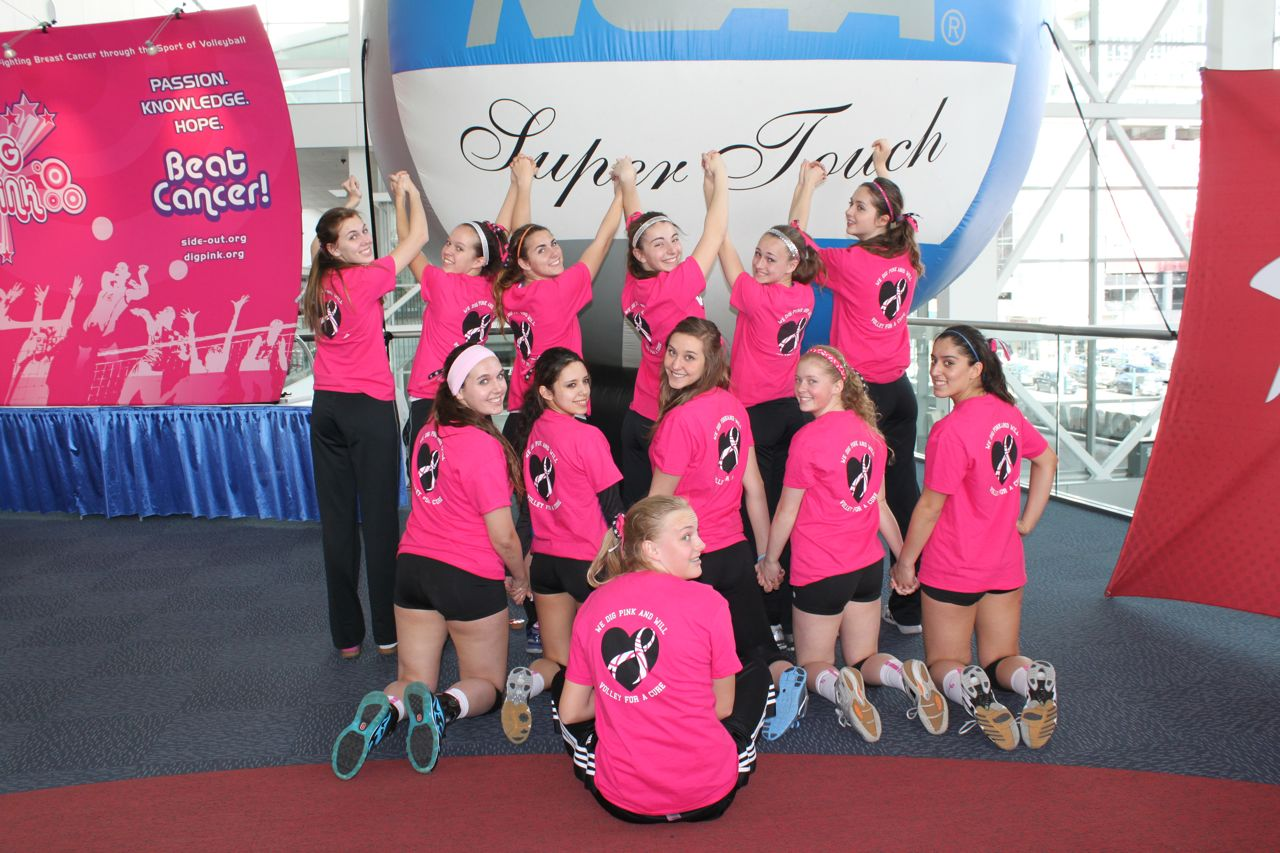 c78bf1f8 Custom T-Shirts for We Dig Pink And Will Volley For A Cure! - Shirt ...