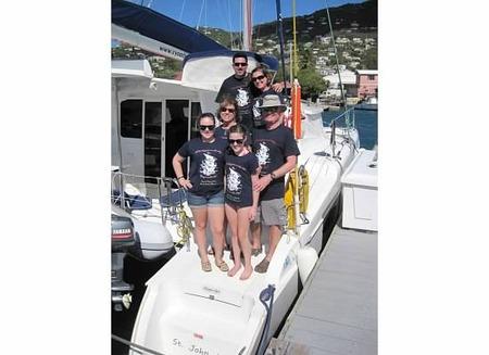 Bvi Captain And Crew T-Shirt Photo