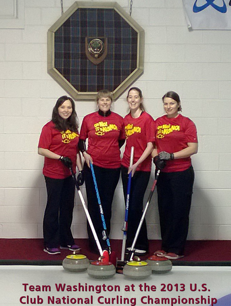 Team Washington At The Curling Nationals (Chicago) T-Shirt Photo