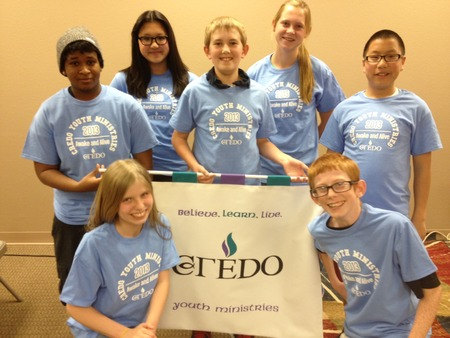 Credo Teens Showing Off Their Cool New Shirts T-Shirt Photo