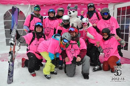 Team Stinky Pinkys  Pink Vail T-Shirt Photo