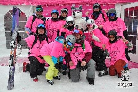 Team Stinky Pinkys  Pink Vail T-Shirt Photo