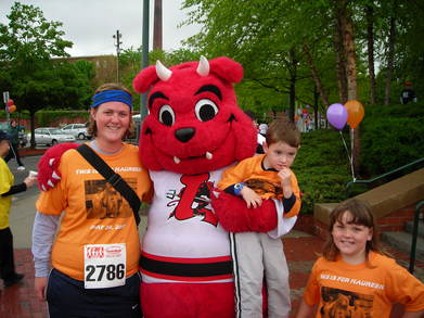 Our Cancer Care Walk Meets The Devil Dog T-Shirt Photo